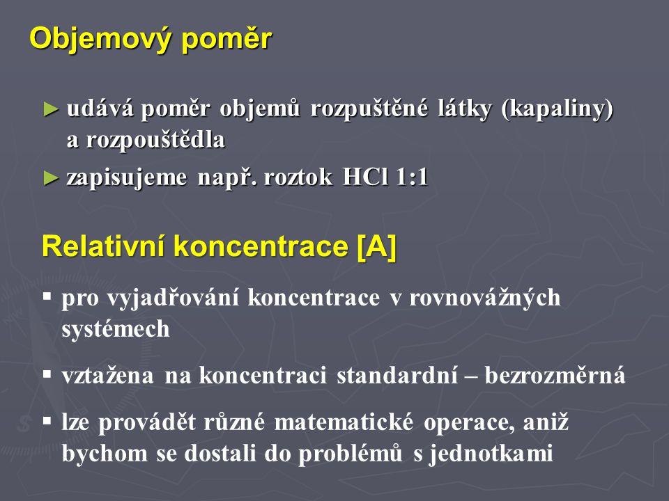 Relativní koncentrace [A]